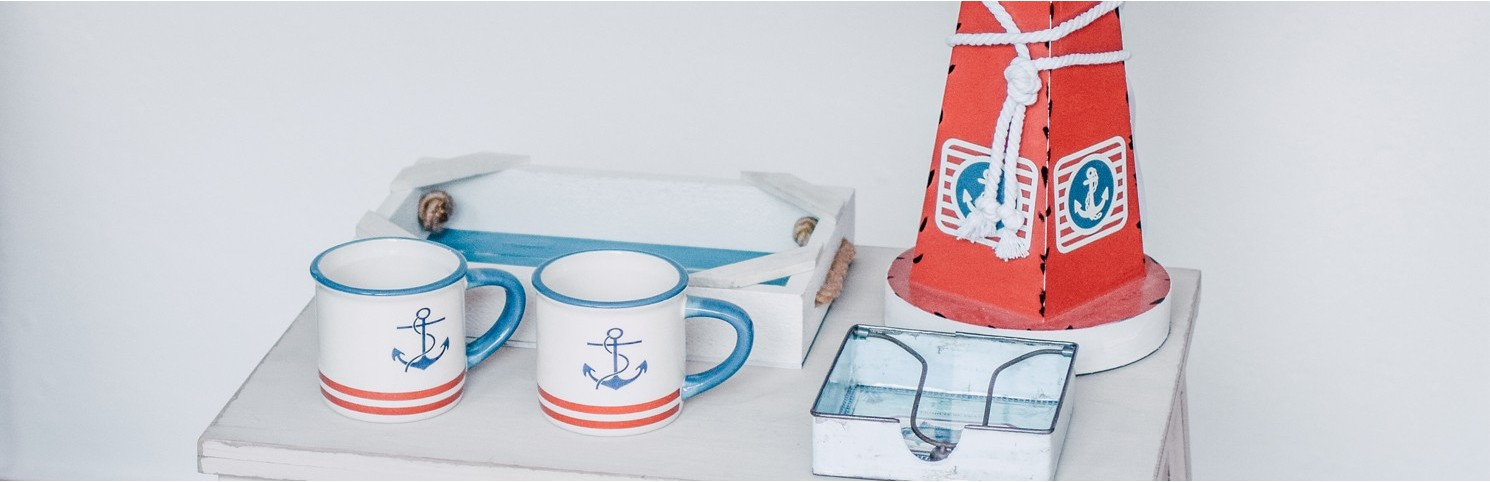 mugs, vajilla nautica, porcelana, ceramica