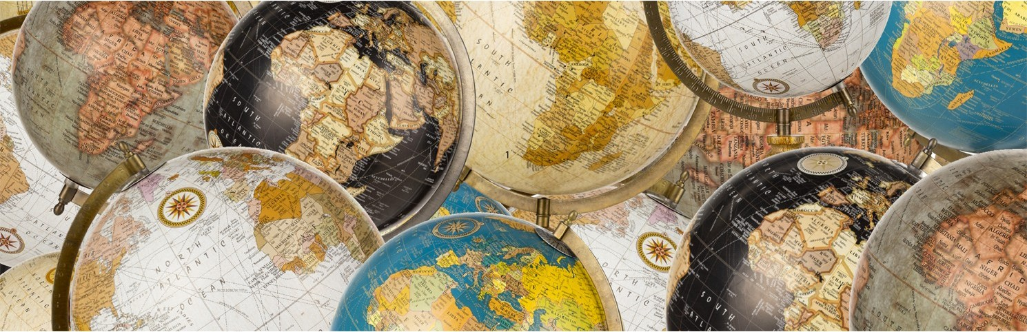 terrestrial globe, nautical terrestrial globe, armillary sphere