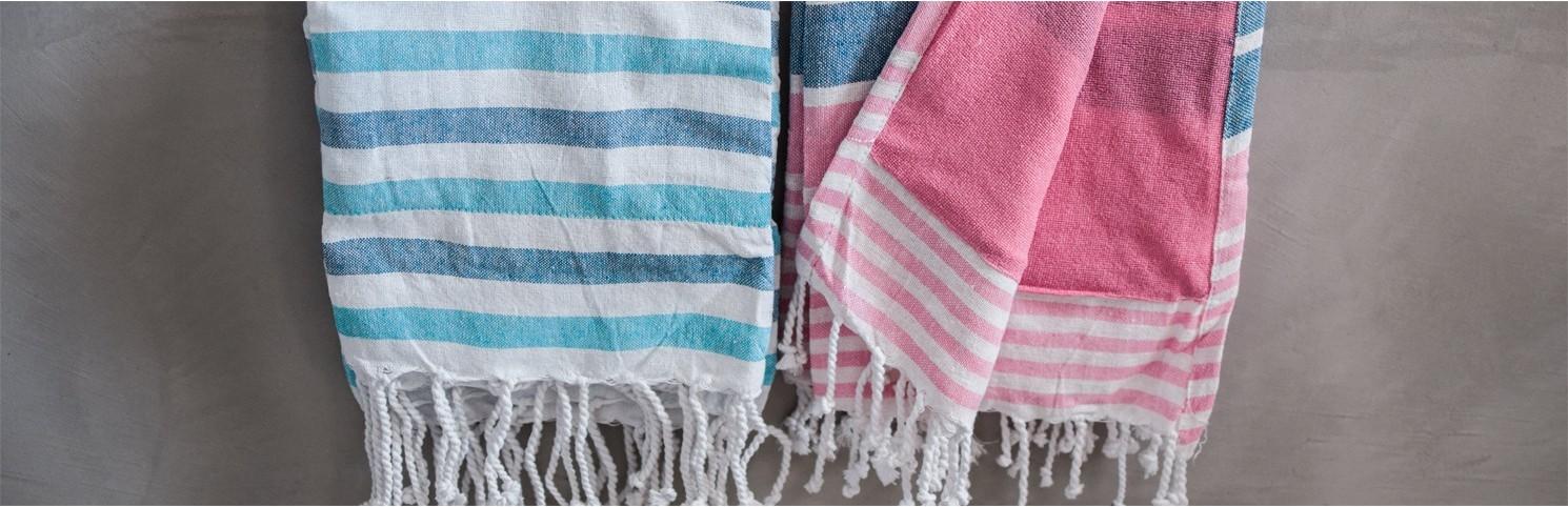 marine pareo, navy fouta, towel beach