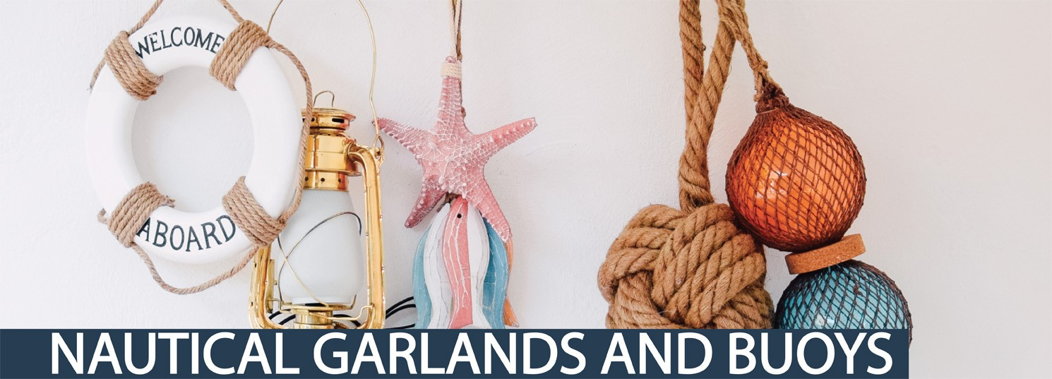 nautical garlands and buoys